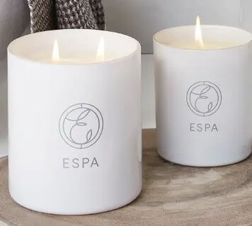ESPA's aromatic candles to remind you of your spa experience